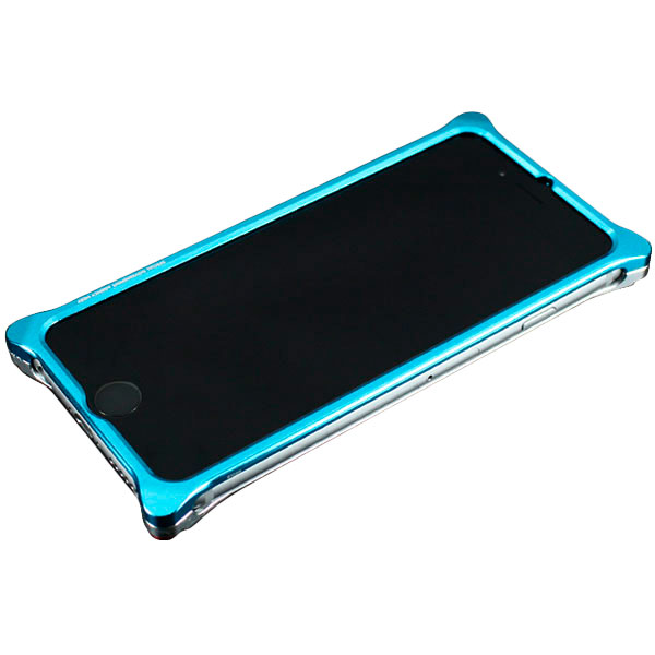 GILD design Solid Bumper for iPhone 6 / 6s (EVANGELION Limited) REI MODEL ライトブルー・シルバー