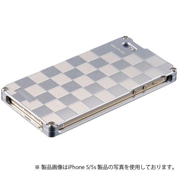 GILD design 市松 for iPhone SE / 5s / 5 シルバー