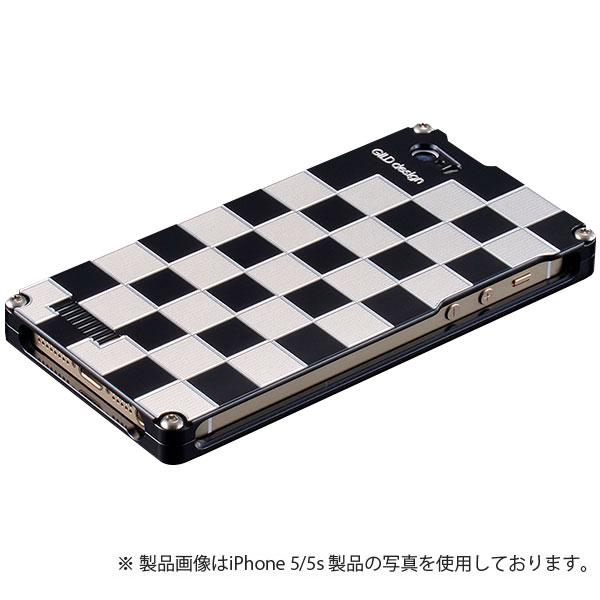 GILD design 市松 for iPhone SE / 5s / 5 シルバー&ブラック