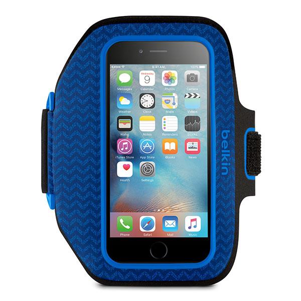 BELKIN iPhone 6s / 6 対応 スポーツフィットPLUSアームバンド ブルー
