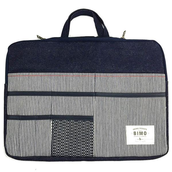 BIMO Multi Pocket Case 13inch Denim / Hickory