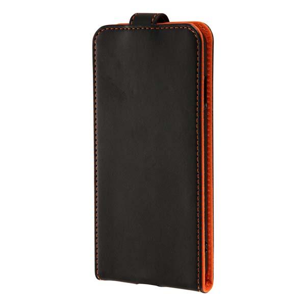 Ray Out iPhone 7 フラップ スナップボタン 縦型/ブラック/オレンジ