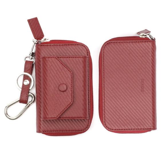 ZENUS iQOS専用 Carbon Leather case レッド