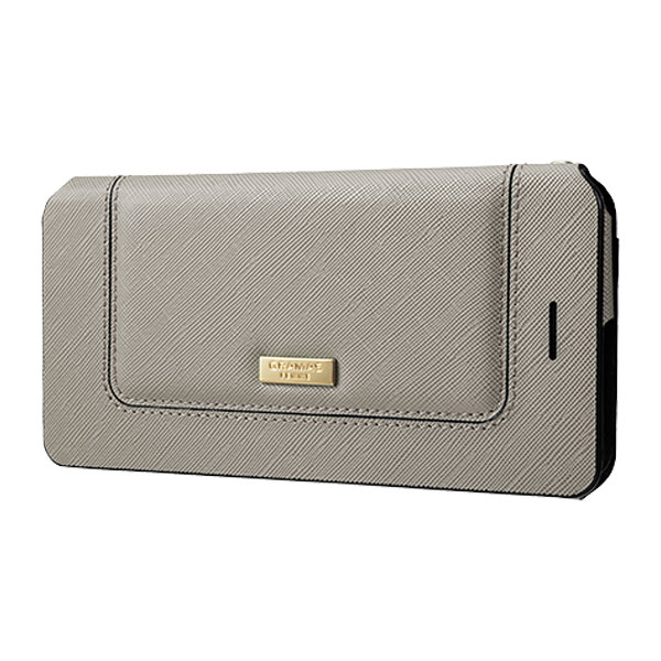 """GRAMAS """"Sac"""" Bag Type Leather Case for iPhone 7 Plus Gray"""