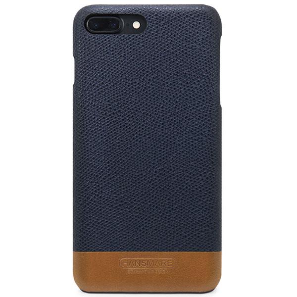 HANSMARE iPhone 7 Plus LEATHER SKIN CASE Ⅱ ネイビー