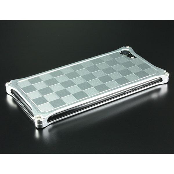 GILD design iPhone 8 Plus / 7 Plus アルミパネル市松 ソリッドバンパー対応 シルバー