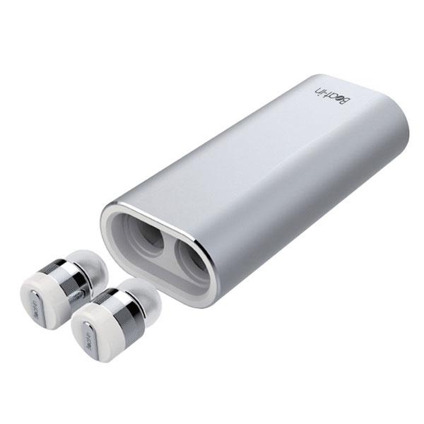 Beat-in Power Bank 超小型・完全ワイヤレス Bluetooth イヤホン モバイルバッテリー付(2100mAh) シルバー