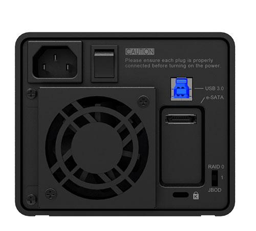 STARDOM SOHO TANK ST2-6G e-SATA/USB 3.0 ブラック