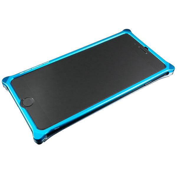 GILD design Solid Bumper for iPhone 7 Plus (EVANGELION Limited) REI MODEL ライトブルー・シルバー
