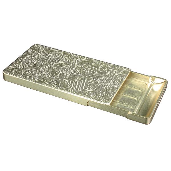 GILD design ジュラルミン削り出し名刺入れ OKOSHI-KATAGAI 「七宝寄小紋」シャンパンゴールド