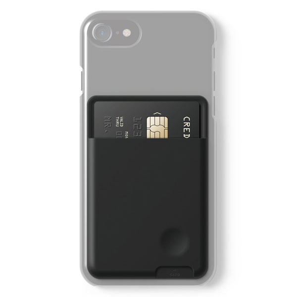 elago CARD POCKET iPhone / スマートフォン対応 背面カード収納ポケット Black