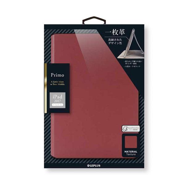 LEPLUS iPad 6th / 5th 一枚革PUレザーケース 「Primo」 レッド