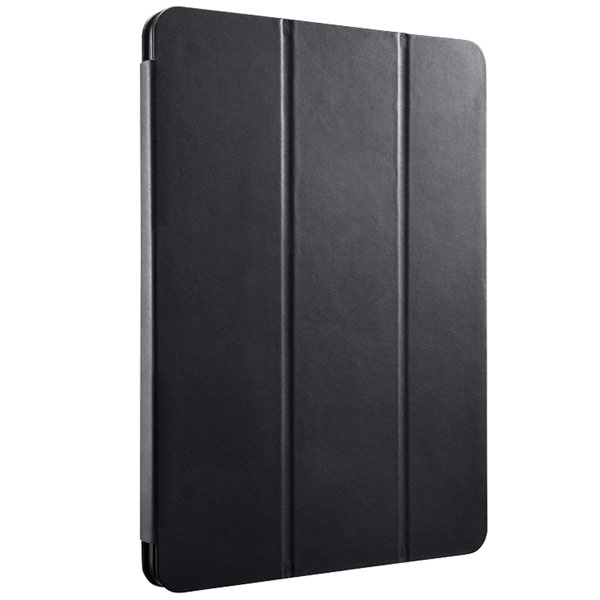 BUFFALO iPad 5th 専用 レザーケース 3アングルスタンドフラップモデル  ブラック