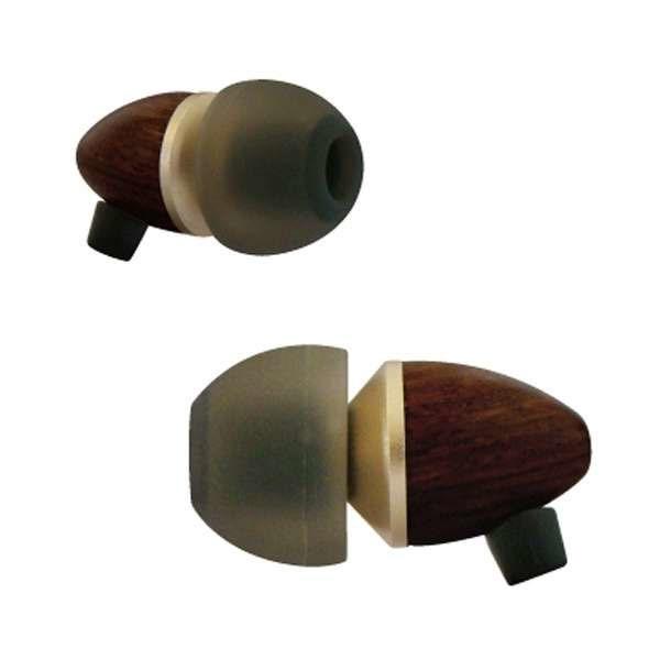 たのしいかいしゃ Hi-Res WOOD 木製ハウジング ハイレゾ カナル型 イヤホン ブラックブラウン