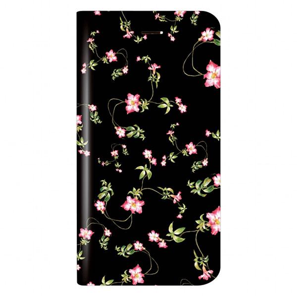 LEPLUS iPhone 8 Plus / 7 Plus 薄型デザインPUレザーケース「Design+」Flower ブラック