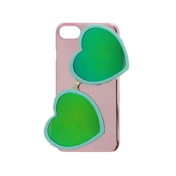 LEPLUS iPhone SE 第2世代 / 8【Lucy】ハートミラーサングラス付ハードケース ターコイズ