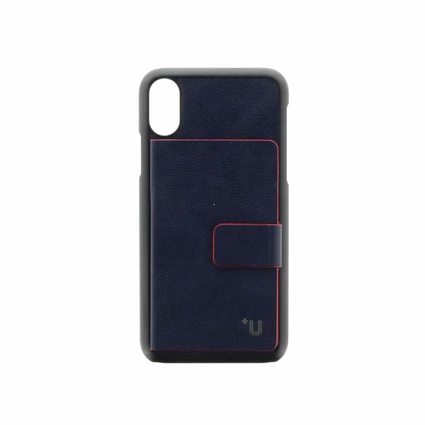 LEPLUS iPhone XS / X【+U】Smith カード収納ポケット付PUケース ブルー