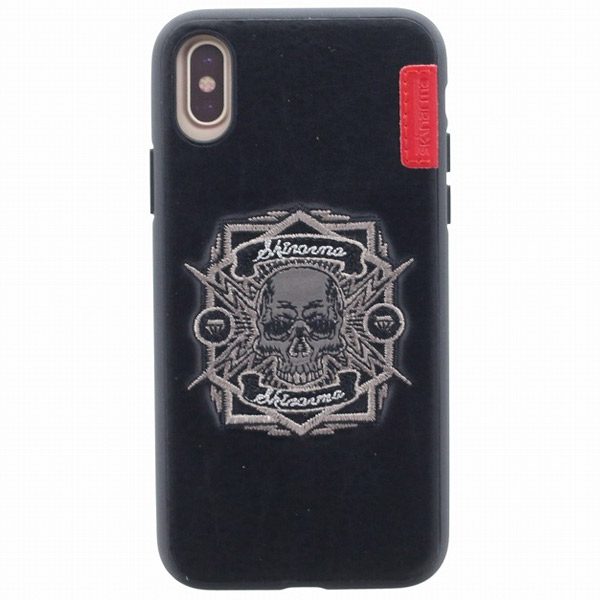 Skinarma iPhone XS / X シェルケース ハンドメイド刺繍 Motocross Collection Outlaw