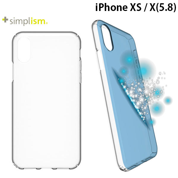 Simplism iPhone X [Airly Recovery] キズ修復防指紋クリアケース クリア