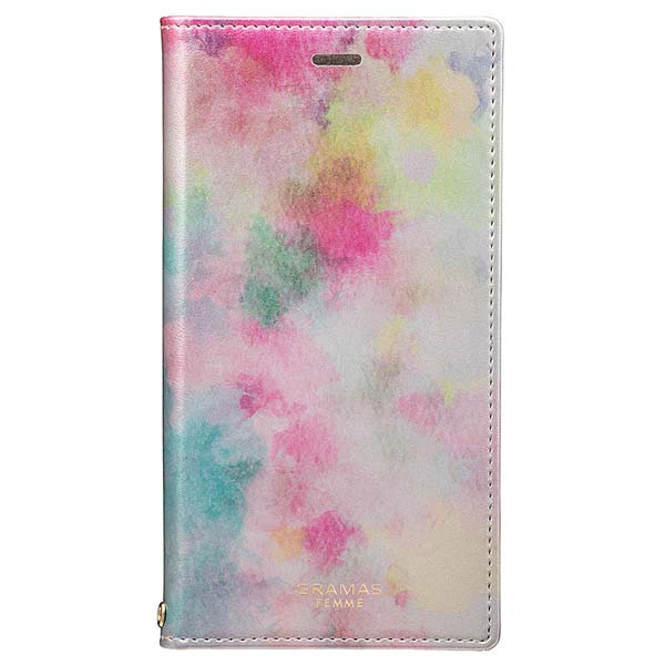 GRAMAS iPhone XS / X Gra Book PU Leather Case Luce