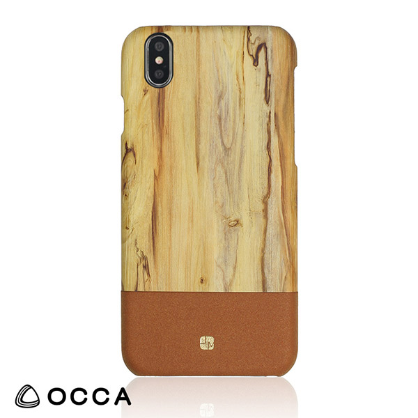 OCCA iPhone XS / X Wooden back cover Brown