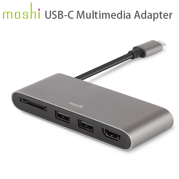 moshi USB-C Multimedia Adapter (Titanium Gray)