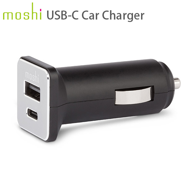 moshi USB-C Car Charger (Black)
