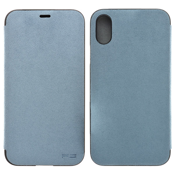 PowerSupport iPhone X Ultrasuede Flip case ウルトラスエード フリップケース (Sky)