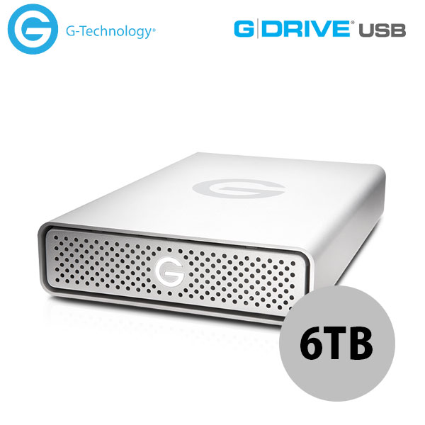G-Technology 6TB G-DRIVE USB 3.0 Silver JP 外付けHDD