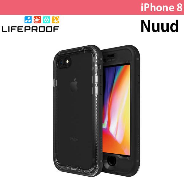 LifeProof iPhone 8 Nuud 防水・防塵・防雪・耐衝撃 ケース Black