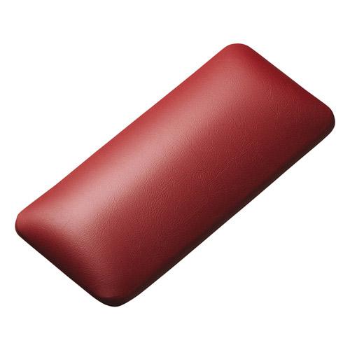 SANWA マウス用リストレスト レザー調素材 レッド