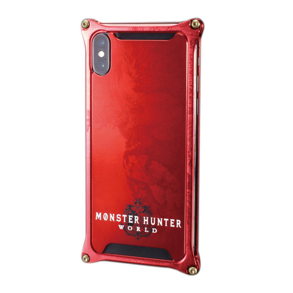 GILD design iPhone XS / X Solid Bumper MONSTER HUNTER: WORLD ネルギガンテ レッド