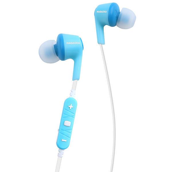 NAGAOKA AAC対応 Bluetooth ワイヤレス カナル型イヤホン ライトブルー wcc