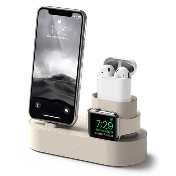 elago iPhone / AirPods / Apple Watch Charging Hub 3in1 充電スタンド (Classic White)