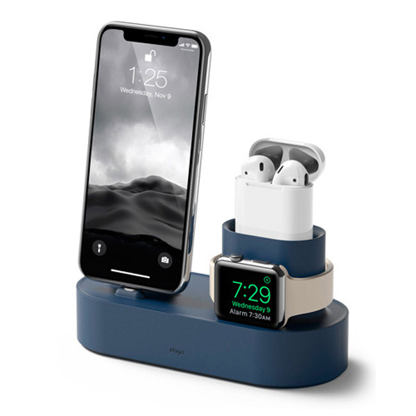 elago iPhone / AirPods / Apple Watch Charging Hub 3in1 充電スタンド (Jean Indigo)