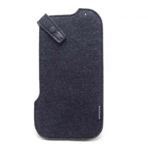 buzzhouse design iPhone 11 Pro / XS / X ハンドメイドフェルトケース ブラック