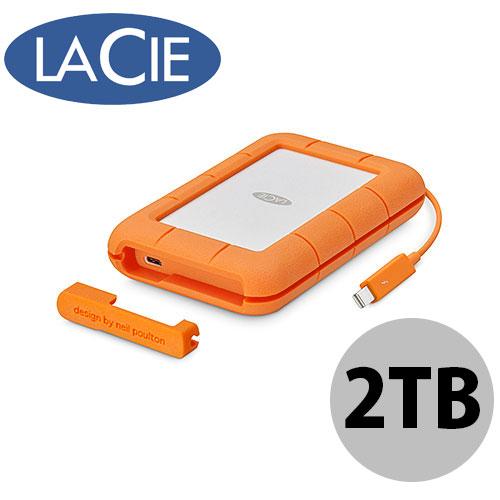 Lacie 2TB Rugged Thunderbolt USB-C ポータブルハードディスク