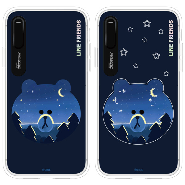 cheap for discount 73cb6 2b2fb LINE FRIENDS iPhone XS / X LINE FRIENDS LIGHT UP CASE ブラウン # KCL ...