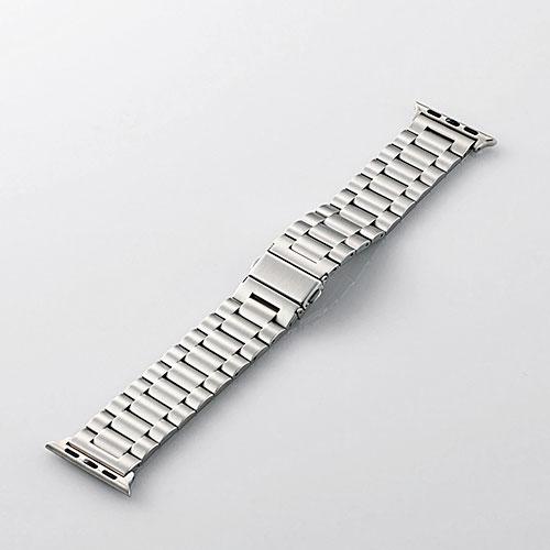 エレコム Apple Watch 38mm / 40mm ステンレスバンド 3連タイプ シルバー