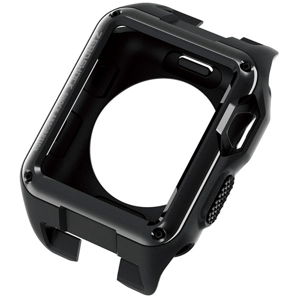 エレコム Apple Watch 42mm Series 2 / 3 ZEROSHOCKケース ブラック