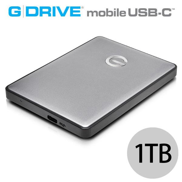 G-Technology 1TB G-DRIVE mobile USB-C WW v2 ポータブルハードディスク スペースグレイ
