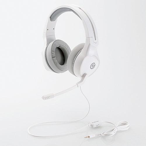 エレコム ゲーミングヘッドセット 両耳オーバーヘッド 極厚イヤーパッド コントローラ付属 ホワイト