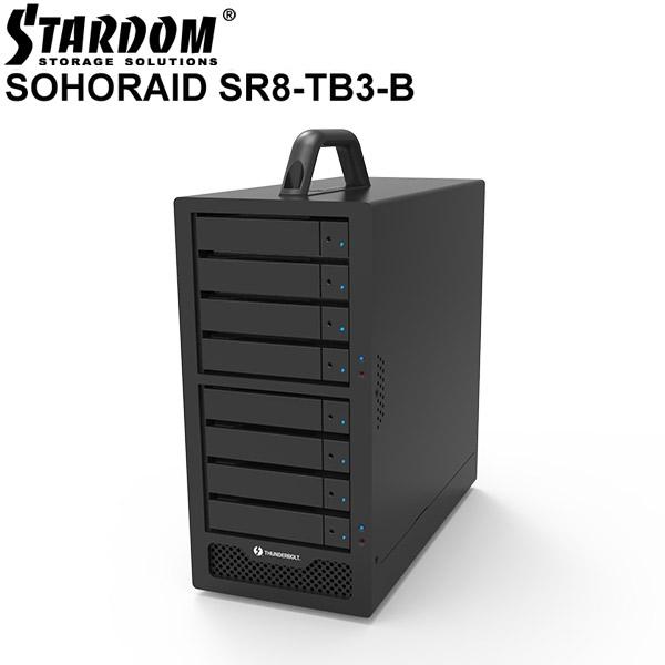 STARDOM SOHORAID SR8 Thunderbolt 3 ブラック