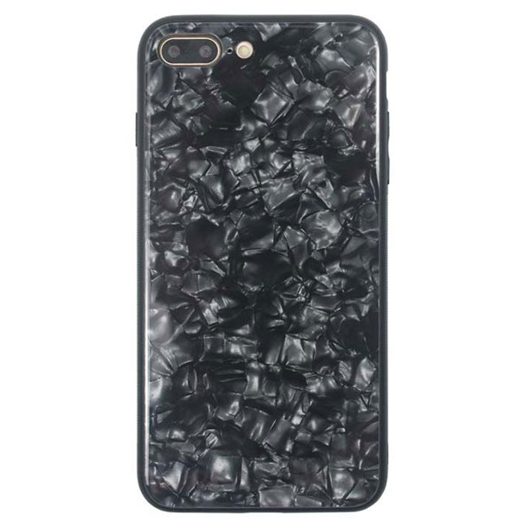 JM iPhone 8 Plus / 7 Plus GLASS PEARL CASE Black