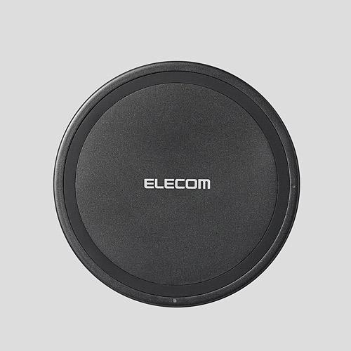 エレコム Qi規格対応 ワイヤレス充電器 卓上薄型 5W ブラック