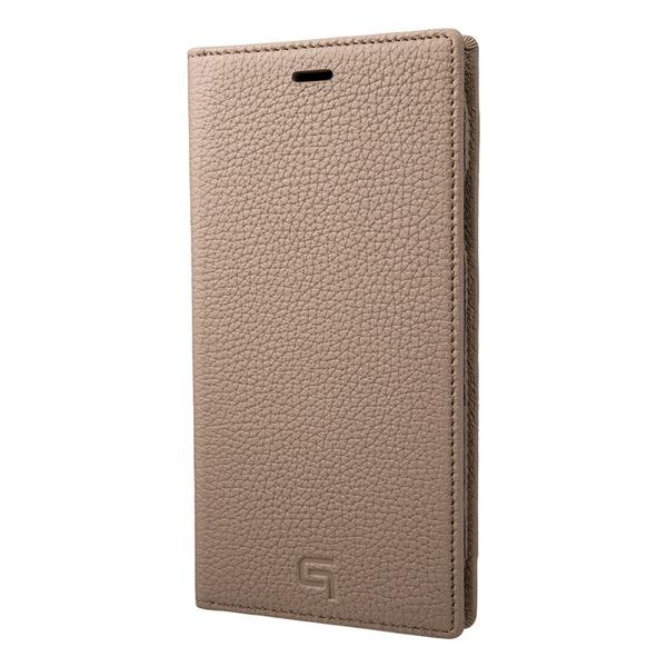 GRAMAS iPhone XR Shrunken-Calf Leather Book Case Taupe