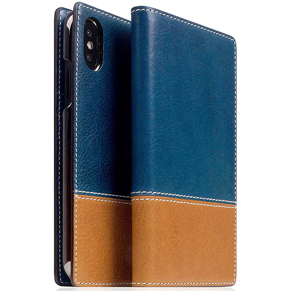 SLG Design iPhone XS / X Tempomata Leather case BL X TA