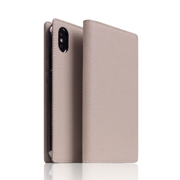 SLG Design iPhone XS / X Full Grain Leather Case light Cream
