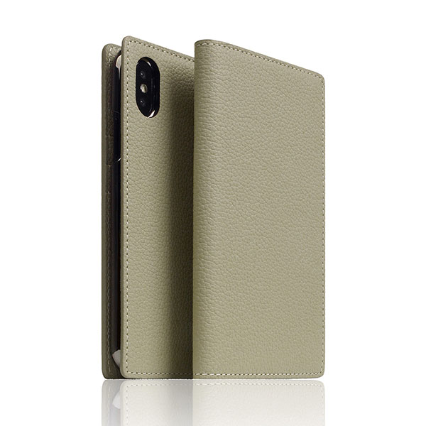 SLG Design iPhone XS / X Full Grain Leather Case Caramel Cream