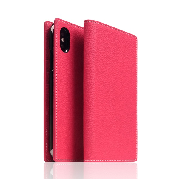 SLG Design iPhone XS / X Full Grain Leather Case Pink Rose